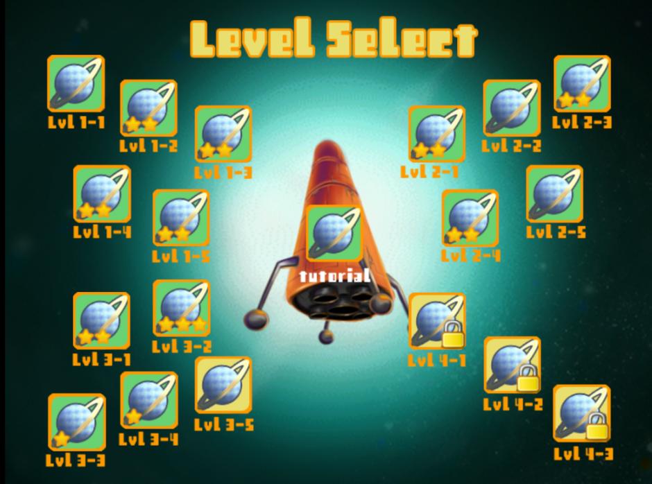 Selection des niveaux